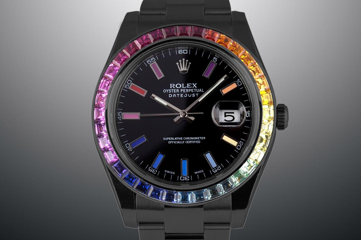 Rolex Datejust II Rainbow Black