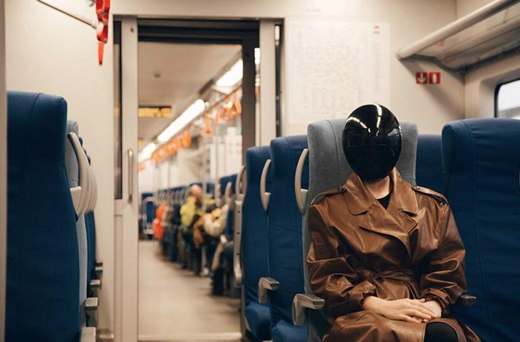 Blanc, máscara de protección
