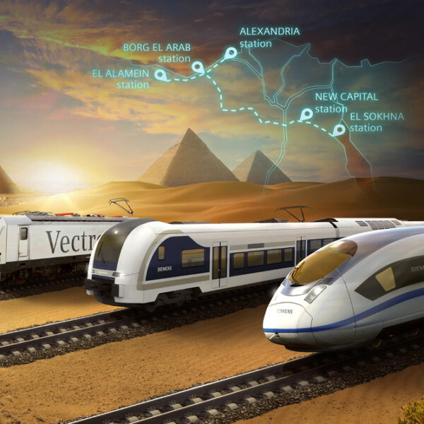 el primer tren de alta velocidad en Egipto
